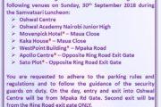 Parking Facilities Notice - Samvatsari