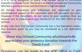 Diwali Fund Collection 2018