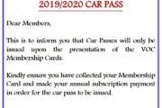 2019/2020 Car Pass