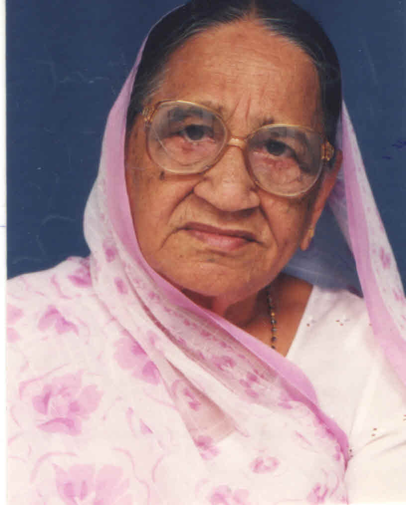 Mrs Kasturben Hirji Gosar Shah