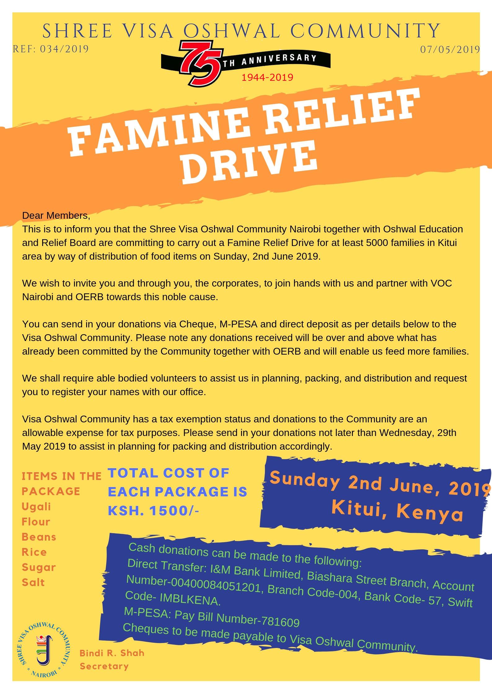 Famine Relief Drive - Kitui 2019
