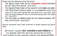 Security Notice - IFTEX 2019 at Oshwal Centre