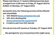 Scheduled System Maintenance