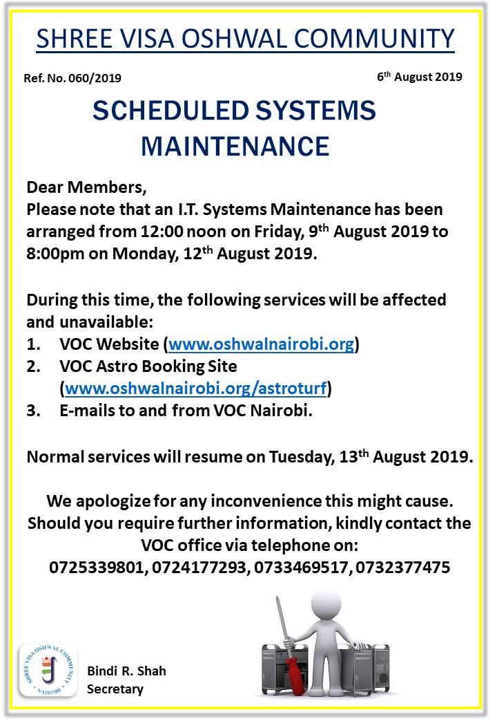 Scheduled System Maintenance